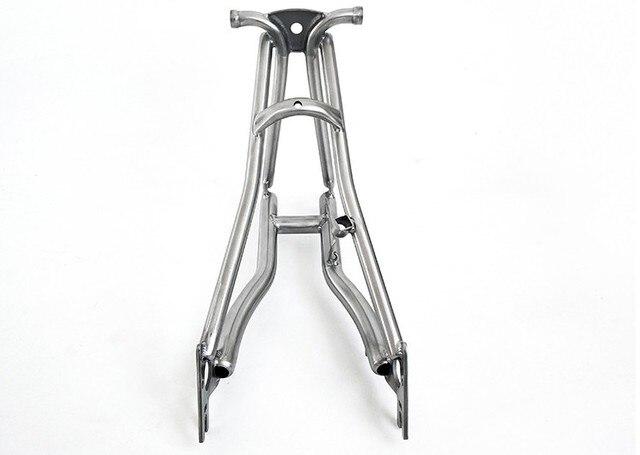 Titanio Triangolo Posteriore fit Brompton bici 135 millimetri di larghezza e forcella anteriore per rottura del disco di larghezza 100 millimetri