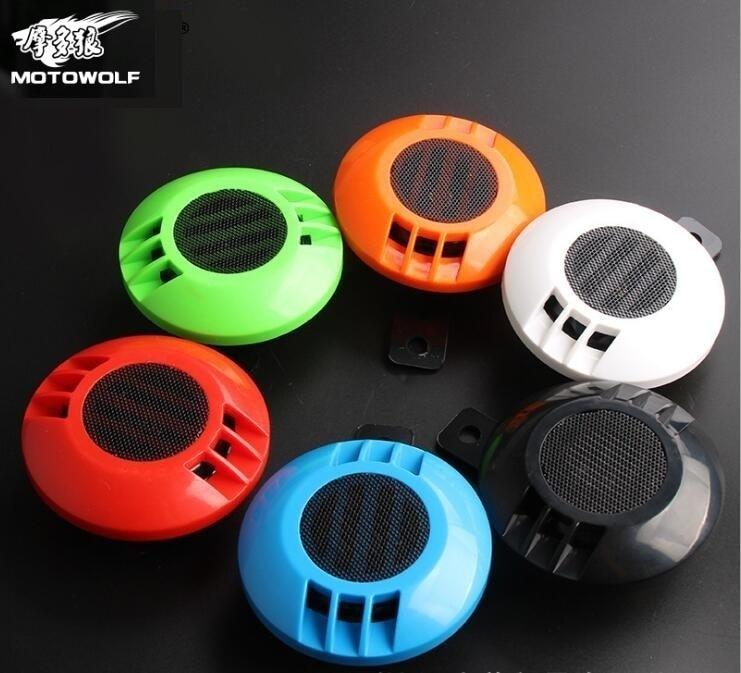 MOTOWOLF Motorcycle Automobile Refit Horn Colour Snail Exceed Sound Tone 12v Horn Waterproof Loud Speaker