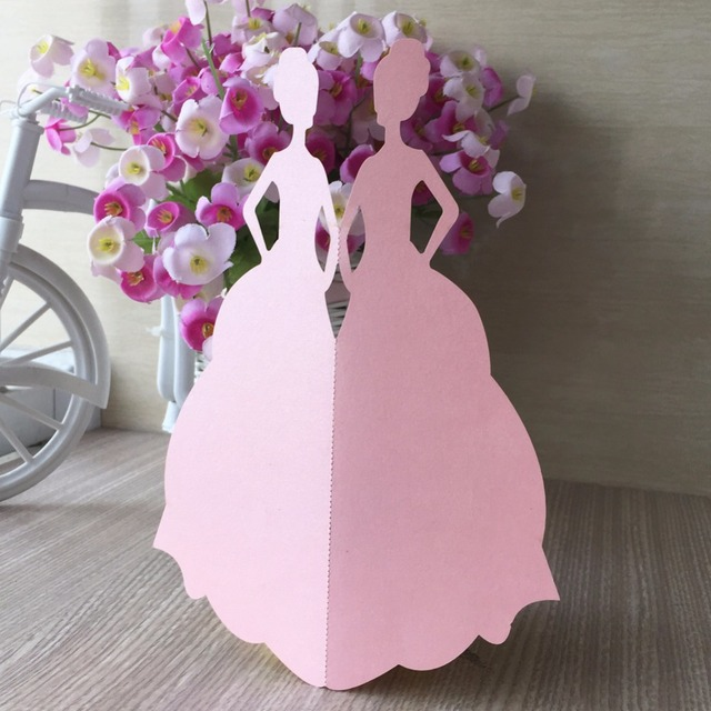 50pcs paper bridal shower party birthday event wedding invitations cards wishing well blessing card decoration festival