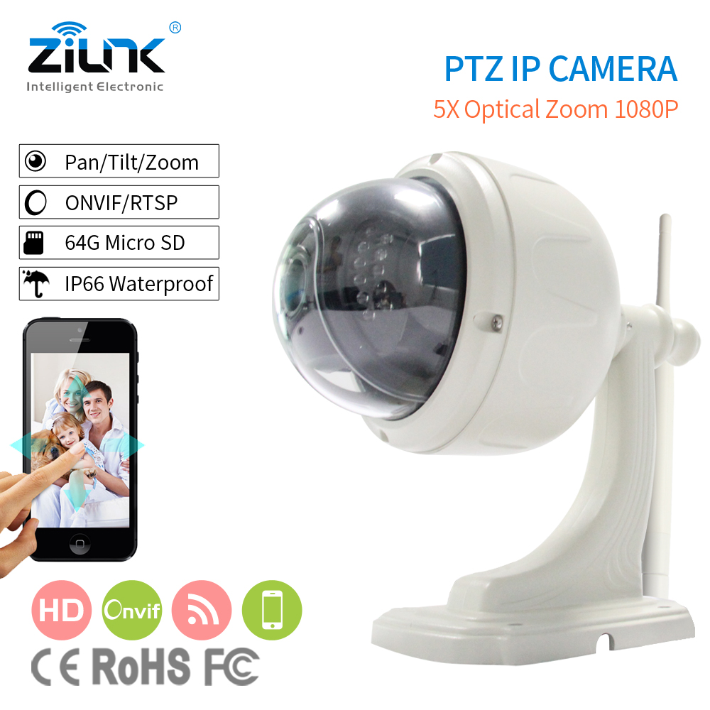 ZILNK High Speed Dome IP Camera HD 1080P Outdoor PTZ 2.8-12mm Auto-focus Waterproof CCTV Security Wifi Wireless Camera Onvif zilnk high speed dome camera hd 960p 5x zoom ptz ip camera security cctv outdoor night vision support onvif p2p ipc