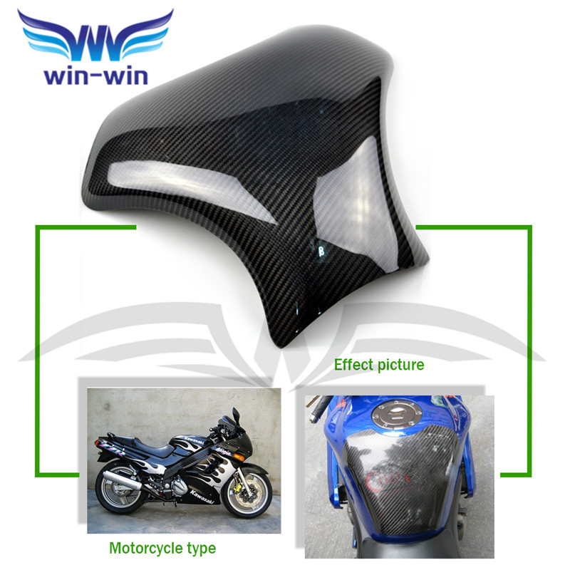 ФОТО new motorcycle accessories black color carbon fiber fuel gas tank protector pad shield rear carbon fiber for SUZUKI GXSR 1300 99
