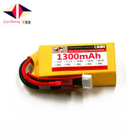 LYNYOUNG Lipo battery 14.8V 1300mAh 25C 4S for RC Helicopter Drone Quadcopter TOY Car