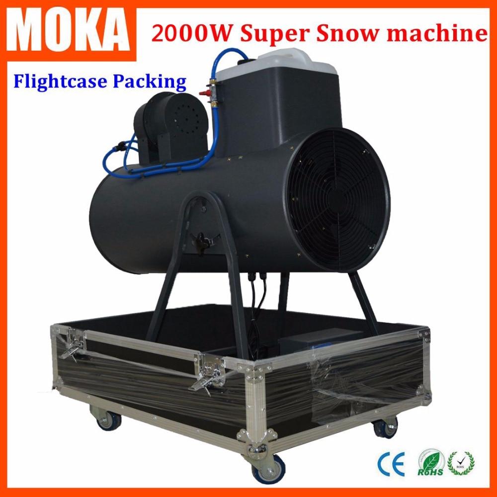 Flight case+2000W Adjustable Output Snowfall Manual Control American Dj Snow Machine With Wheels For Christmas Club Party dj control