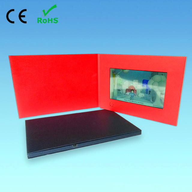 low price high quality 43inch video greeting cards for digital advertising player customization video cards - Digital Greeting Cards
