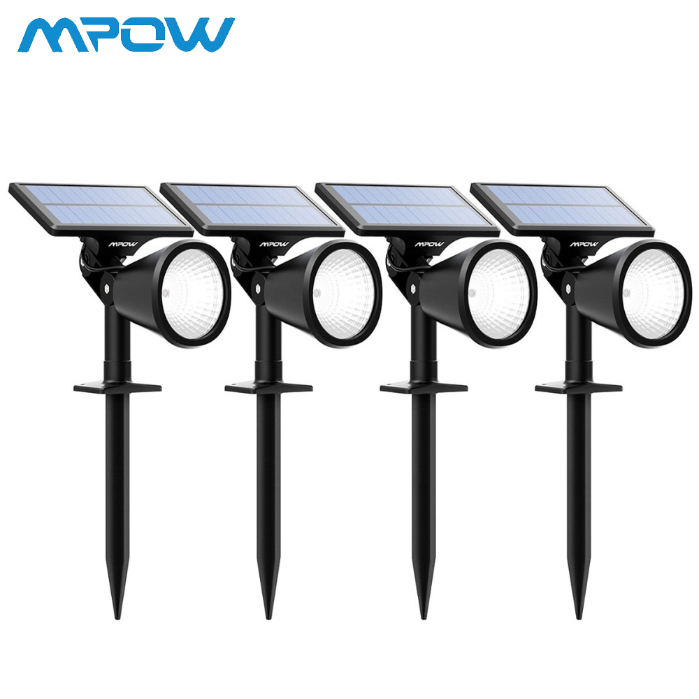 4 Pack Mpow 2-in-1 Outdoor Wall/In-ground Solar LED Spotlight Adjustable Solar Panel 2 Brightness Level Yard Lawn Pathway Garden4 Pack Mpow 2-in-1 Outdoor Wall/In-ground Solar LED Spotlight Adjustable Solar Panel 2 Brightness Level Yard Lawn Pathway Garden