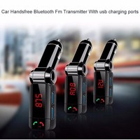 Dual USB Mobile Phone Charger Car Digital Wireless Bluetooth Fm Transmitter In Car Bluetooth Receiver Fm
