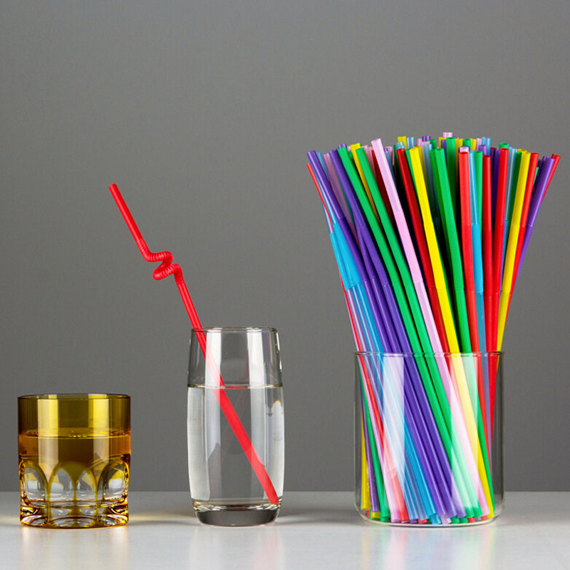 Plastic Drinking Straw 100pcs Lot Multicolor Wedding Party Straws Event Party Supplies Happy