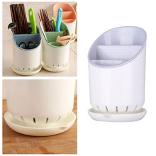 Simple Kitchen Organizer Accessories Ceramic Chopsticks Spoon Knife Fork Storage Rack Draining Tableware Box