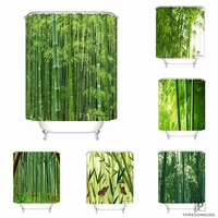 Custom Bamboo Waterproof Shower Curtain Home Bath Bathroom s Hooks Polyester Fabric Multi Sizes180509 01