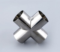 2PCS LOT 38X1 5MM 304 Stainless Steel Sanitary Elbow Pipe Fittings Food Grade Four Pass