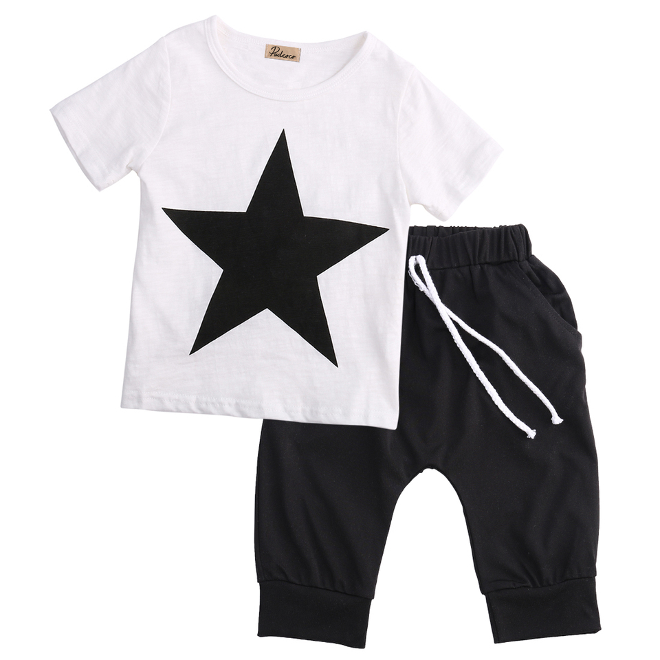 2Pcs Baby Girls Boys Outfits Set Newborn Infant Plaid Hoodie Tops Harem Pants Clothes