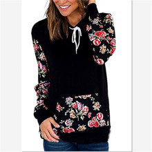 women hoodies autumn floral sweatshirts ladies womens clothing pullover gothic hoodie clothes punk black