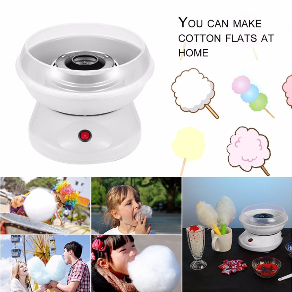 Children 39 s Household Mini Electric Cotton Candy Maker Machine DIY Sugar Machine Children Birthday Gifts EU Plug Pink White Color in Food Processors from Home Appliances