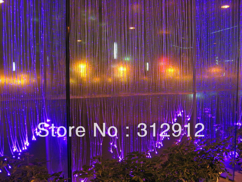 Image 5 - 1*1.0mm(1500m/roll)Side glow sparkle fiber optic waterfall curtain;in clear PVC covercurtain roomcurtains curtaincurtain for door window -