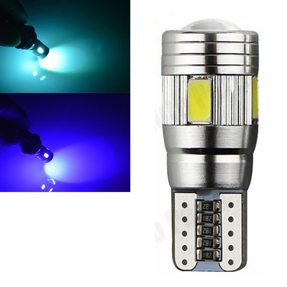 CYAN SOIL BAY Car Styling T10 W5W 194 6 LED Wedge Light Ice Blue Reading Bulb Side Canbus Error Free SMD 5630 12V Side Lamp 4x canbus error free t10 194 168 w5w 5050 led 6 smd white side wedge light bulb