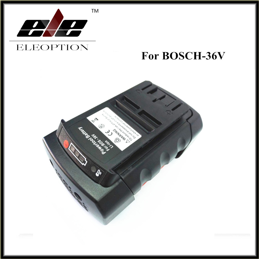Eleoption 36V 3.0Ah Li-ion Power Tool Battery Replacement for Bosch 2 607 336 108 2 607 336 108 BAT810 BAT836 BAT840 D-70771 eleoption 2pcs 18v 3000mah li ion power tools battery for hitachi drill bcl1815 bcl1830 ebm1830 327730