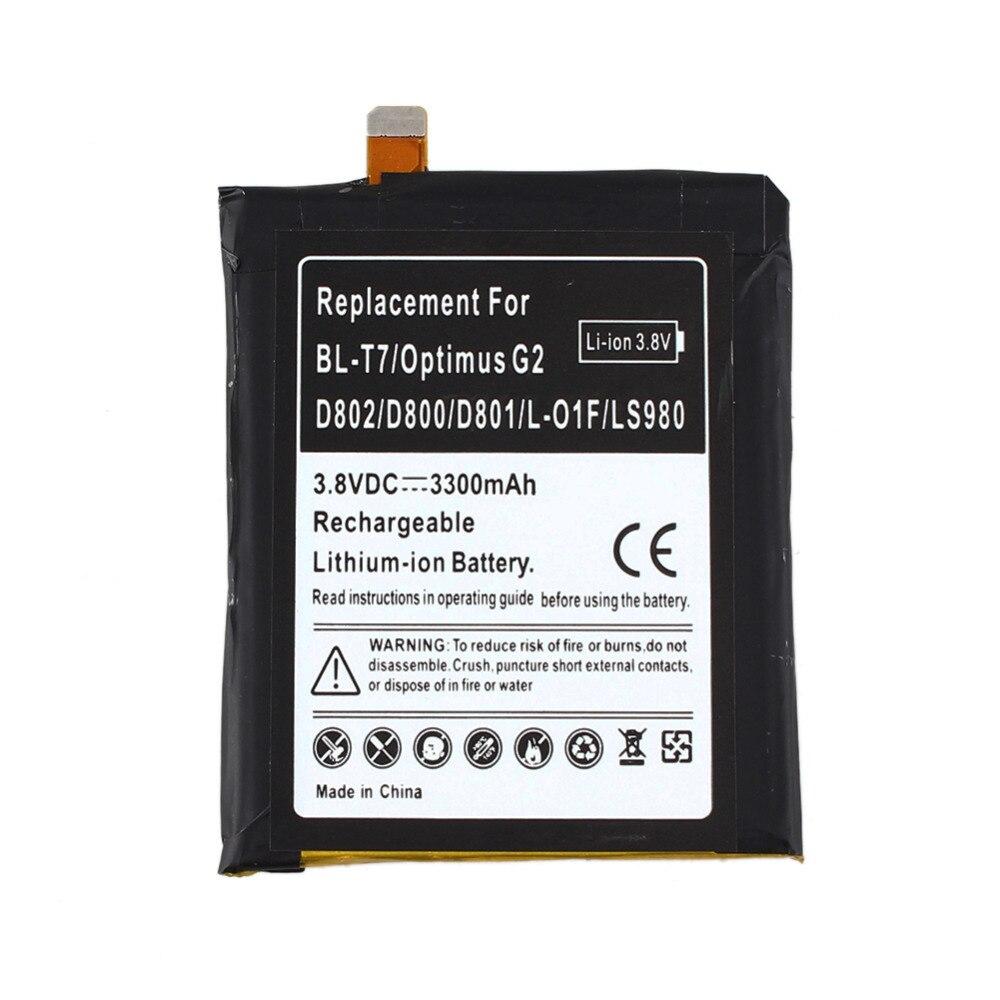Для LG Optimus G2 BL-T7 3300 мАч литий-ионная Batteria <font><b>D802</b></font> D800 D801 L-01F LS980 телефона замена коммерческих Батарея