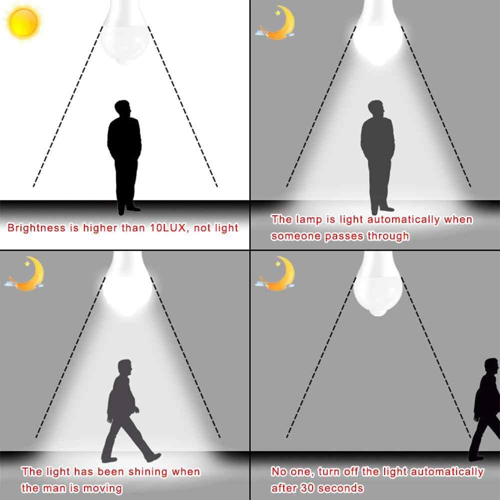 Żarówka LED Światła Inteligentny Ruchu Podczerwieni Ludzkie Ciało Światła Żarówki SMD 2835 10 w E27 ball lampy Wysokiej Jasności 85 -265 v Biały Ciepły Biały