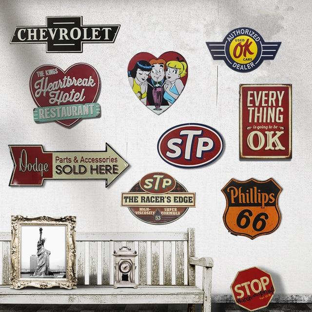Bon STP 66 Retro Metal Tin Signs Poster Wall Decor Bar Pub Garage Plaques  Bedroom Vintage Home