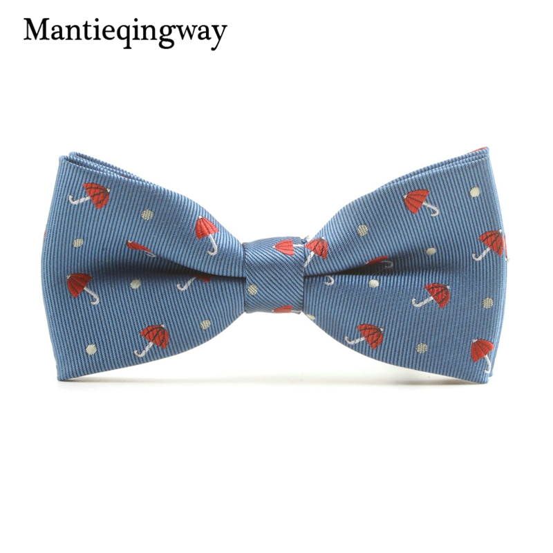 Mantieqingway Casual Children Bow Tie Accessories Cartoon Bowtie Polyester Bow Tie For Boys Neck Wear Bowknot Christmas Bow Ties