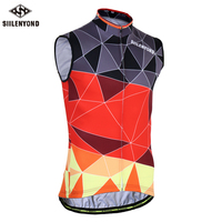 SIILENYOND 2018 Sleeveless Cycling Vests Jerseys Summer Breathable MTB Bicycle Clothes Bike Jersey Ropa Maillot Ciclismo