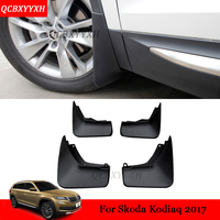 Car Styling 4pcs ABS Black Automobile Mud Flaps Mud Guard Fender Auto Accessories External Decoration For
