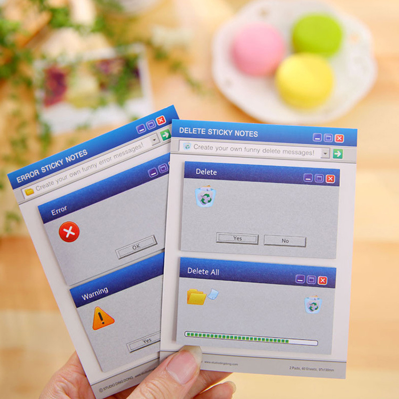 Cute Computer System Shape Memo Pad Creative Diy Sticky Notes Diary Set Kawaii Stationery Stickers Post It Office Supplies never rose gold memo pad set cute post it sticky notes notepads set fashion creative gift office accessories stationery store