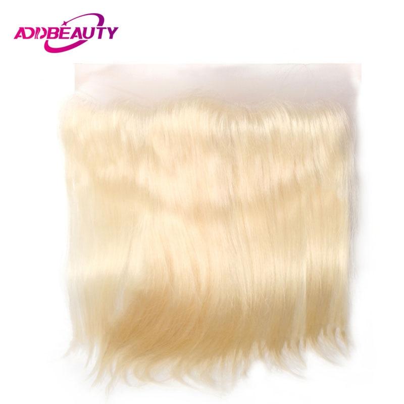 613 блондинка Швейцарской Кружева Фронтальная Закрытие прямо Virgin/Реми бразильский человеческих волос светло-коричневый 13x4 130% предварительн...