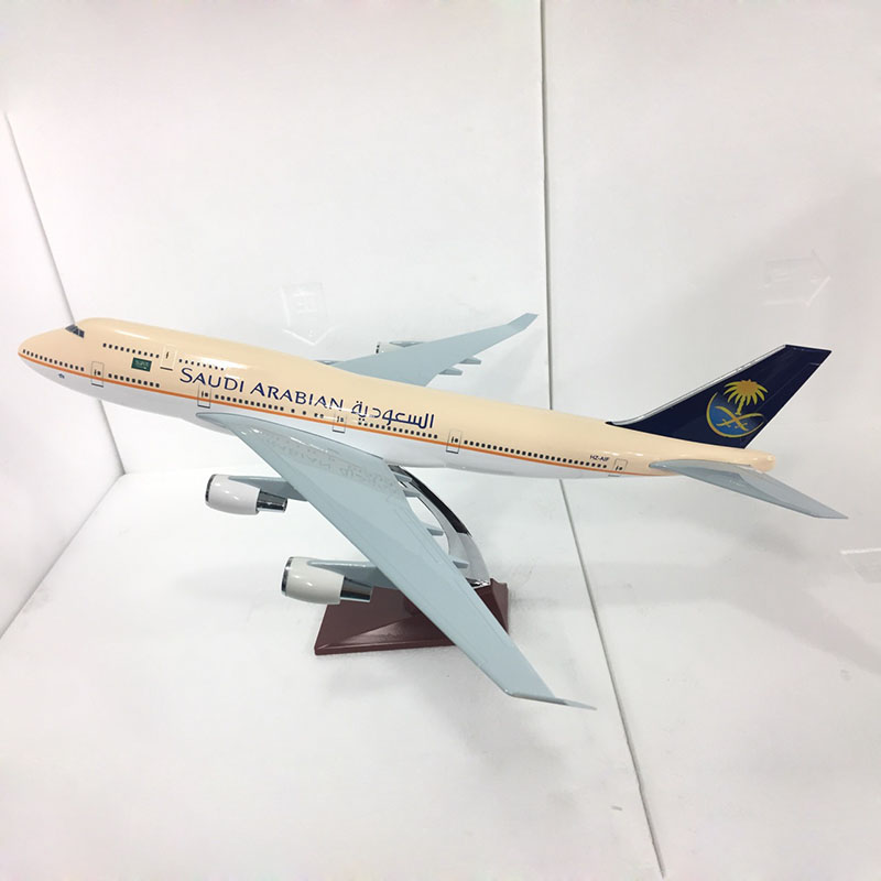 47cm Saudi Arabia Airlines Airplane Model Resin Boeing 747 SA Aircraft Model B747 Plane Model Adult Toys Collections Scale 1:150 gjaal1341 geminijets american airlines n401yx 1 400 erj 170 commercial jetliners plane model hobby