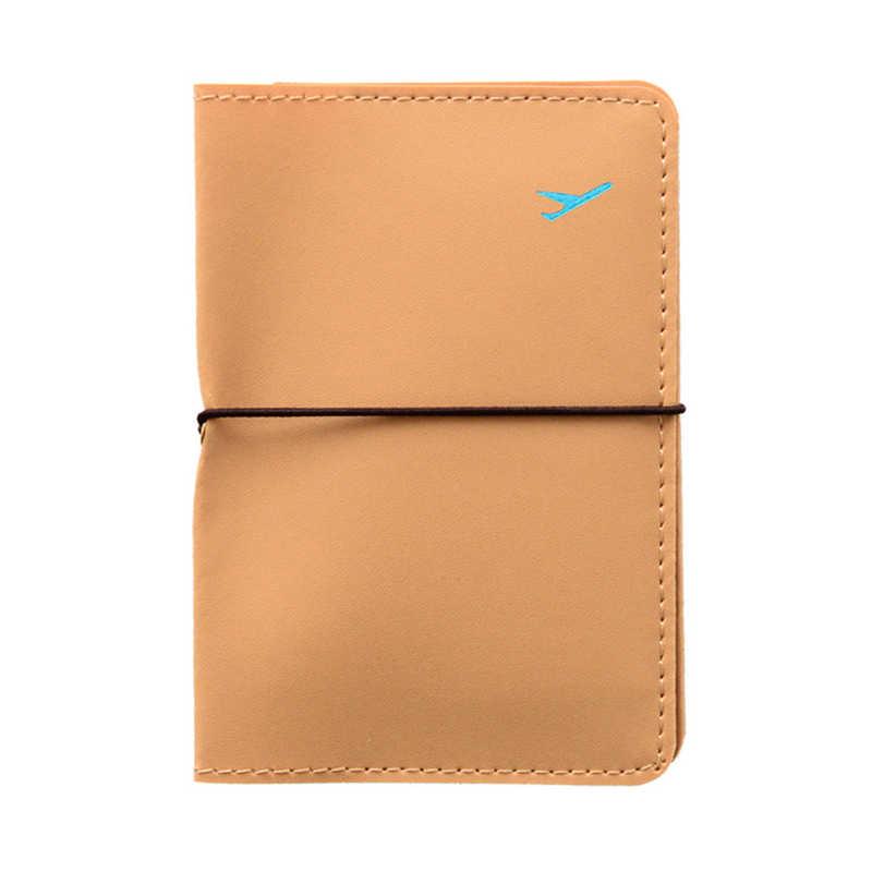 Popularne etui na paszport Rfid Unisex okładka na paszport kredytowy Pu skórzana torba na karty portfel do kart dowodu paszportu paszport podróże Case Apr28