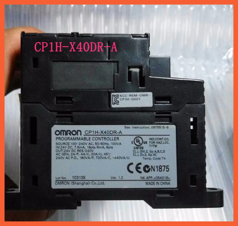 X40DR New Original CP1H-X40DR-A CP1H PLC Controller CPU for Omron Sysmac 40 I/O Relay 24V Encoder Pulse Counter new and original cp1h xa40 dr a omron plc controller module