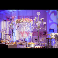 9 Złoty candelabra 150 cm tall ślub świeczniki kryształowe/metal świeczniki z kwiatem bowl centerpieces ślubne na sprzedaż