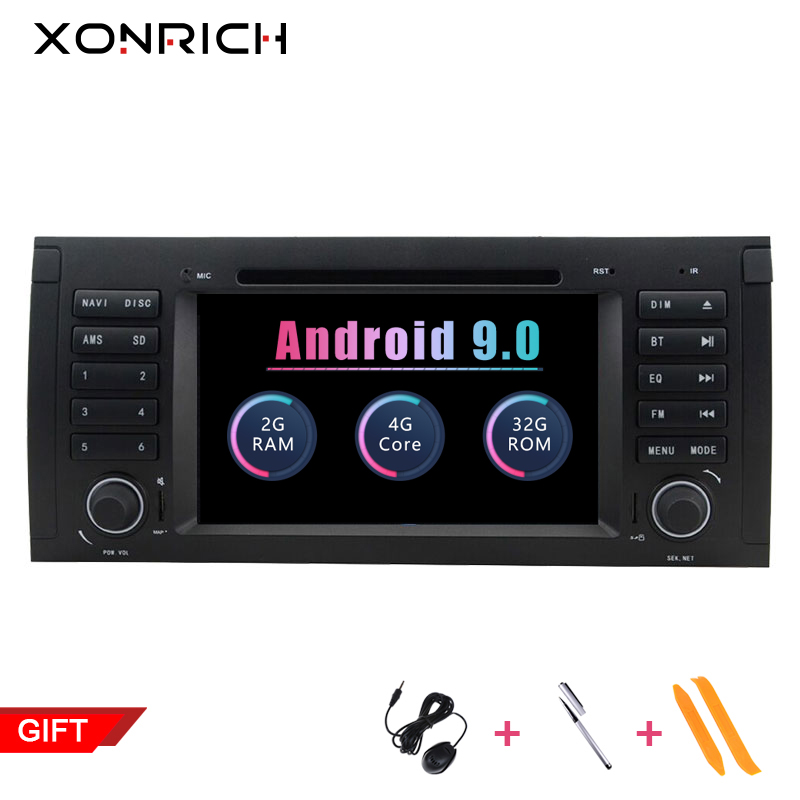 1 lecteur DVD de voiture din Android 9.0 pour BMW X5 E53 E39 multimédia GPS stéréo Audio Navigation écran tête unité dvd automotivo 2 GB
