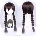 Suzuhara Izumiko Dark Brown Double Long Braid Synthetic Cosplay anime Wig Hair