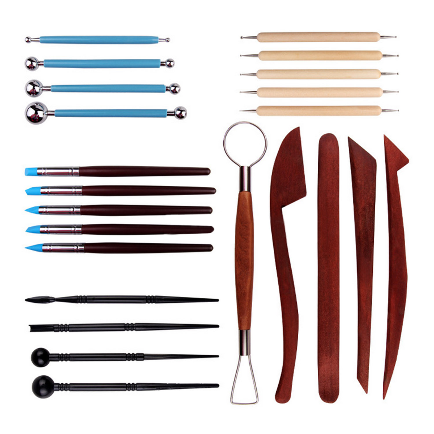 23 PCS 5 Styles Clay Sculpting Tool Set Art Dotting Tool Ball Stylus Sculpting Knives Painting Tools Set