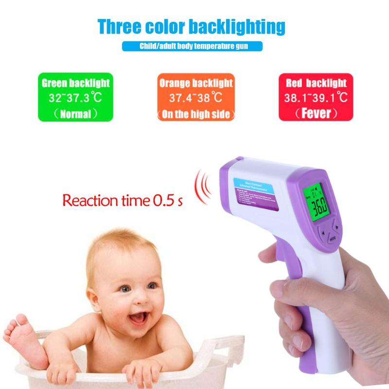 Baby Infrared Thermometer Forehead Body Temperature Fever Measure Infrared Non-contact LCD Backlight Digital Thermometer ht 6885 non contact high temperature infrared thermometer backlight lcd display