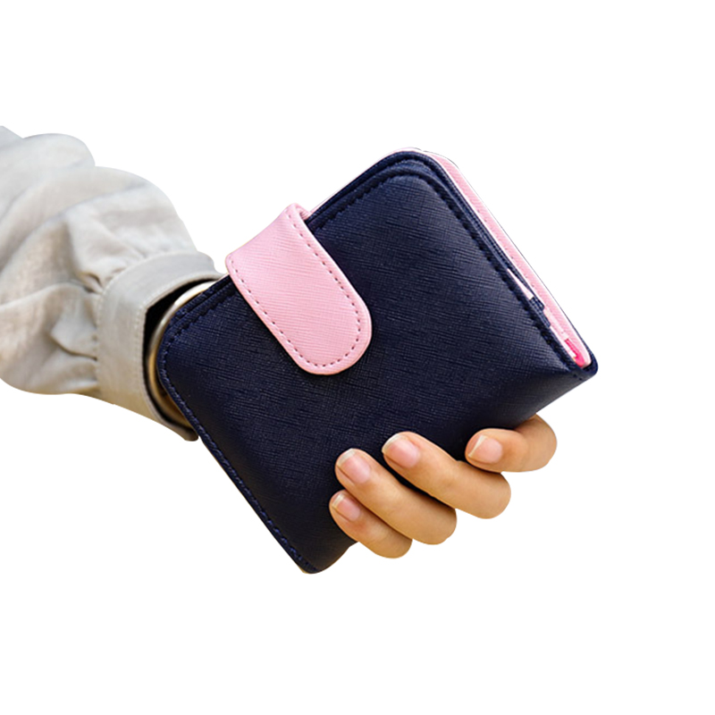 Panelled Women Wallet Leather Female Wallet Zipper Coin Purse Hasp Lady Wallet Girl Clutch Bag Candy Money Bag Carteira Feminina fashion women coin purse lady vintage flower small wallet girl ladies handbag mini clutch women s purse female pouch money bag