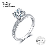 Genuine 925 Sterling Silver Ring Luxury Large Main Stone Fashion Zirconia Simple Wedding Engagement Rings For