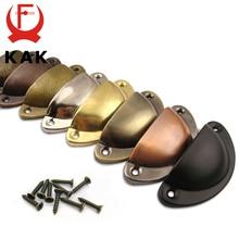 KAK 2 uds Retro Metal armario con cajones de cocina manija de puerta y muebles perillas Handware armario antiguo concha de latón tiradores