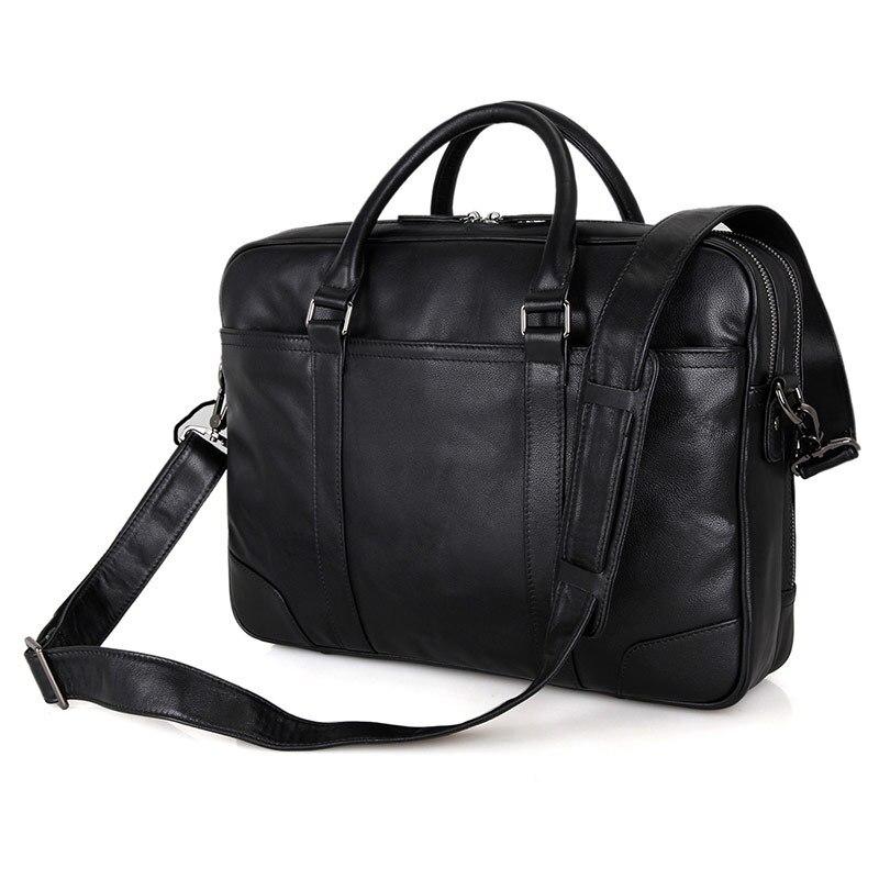 Nesitu Black Large Capacity Genuine Leather Men Messenger Bags Briefcase Portfolio 14 Laptop Business Travel Bag #M7348Nesitu Black Large Capacity Genuine Leather Men Messenger Bags Briefcase Portfolio 14 Laptop Business Travel Bag #M7348