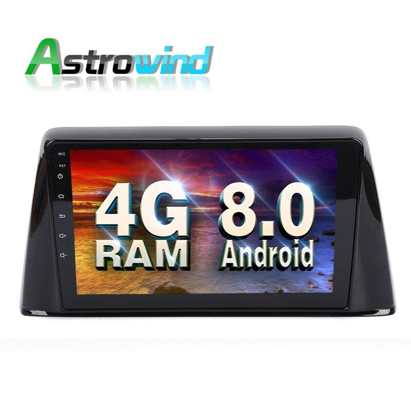 9 pouces écran 4G RAM Android 8.0 système voiture lecteur DVD GPS Navigation Radio système Audio vidéo pour Peugeot 308 2016