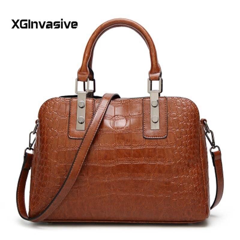 Vintage Leather handbag Big Women Crossbody Bag Fashion Shoulder Bag Casual Tote Big Boston Designer Shopping Bag Ladies Bolsos
