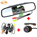 "GreenYi 4.3"" Rearview Video Mirror Monitor + Car Reverse Backup Rear Camera + 2.4GHZ Wireless Kit to Connect Monitor and Camera"