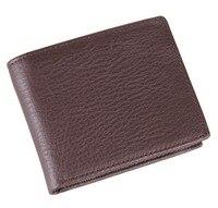 Men Wallet Cow Leather Soild Men Wallet New Fashion Big Capacity Men Wallet Slim Male Purses Money Clip with Coin Pocket.QB 107