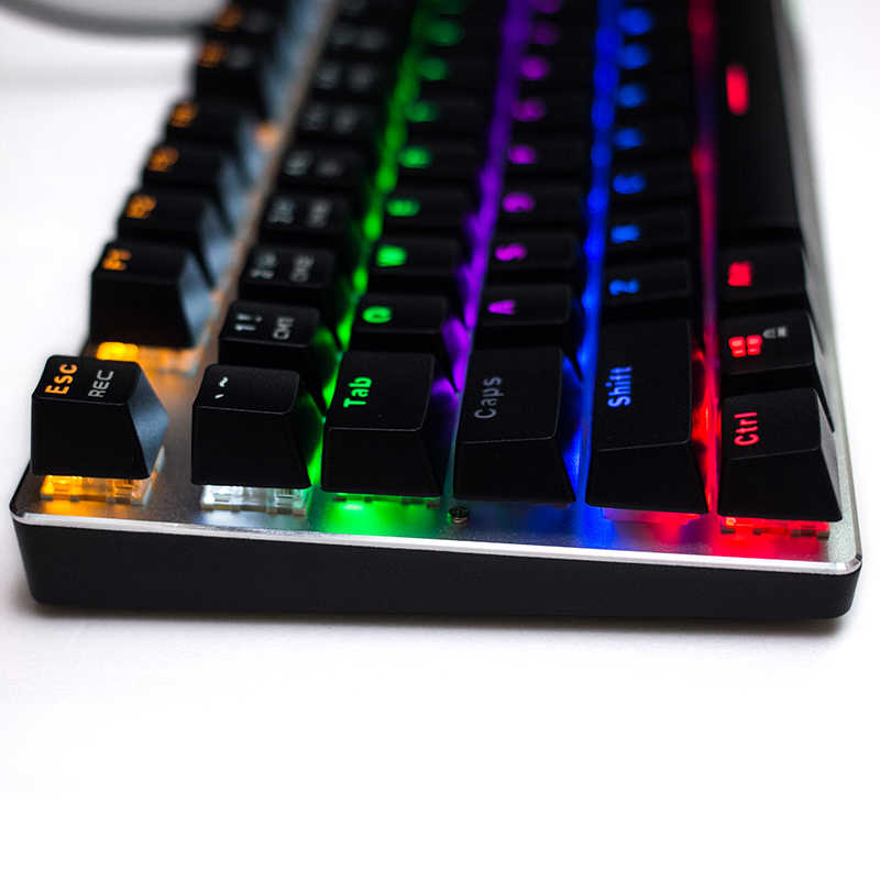 003229f2cf3 ... Newest Metoo Mechanical Keyboard 87/104 keys Red Blue Black Switch LED  Backlit USB wired ...