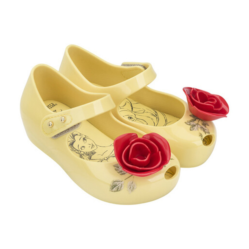 2017 Brazilian Beauty Beast girls Jelly Shoes Rose Tea Teapot Children soft Shoes Mini Melissa kids anti skid Sandals 13-18cm