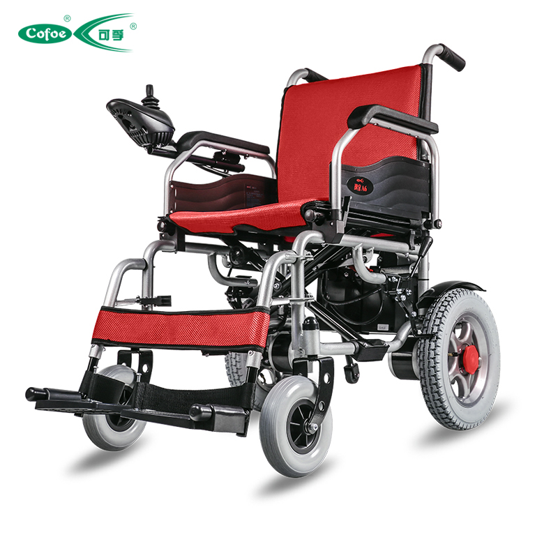 Cofoe folding a6 portable electric wheelchair medical for Lightweight motorized folding wheelchair