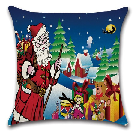 Image 5 - 2pcs Christmas Santa Deer Bulb Tree Socks Cushion Sofa Bedroom Decorative Pillow Cover Cushion Cover Home Sweet Pillow Case-in Cushion Cover from Home & Garden