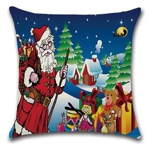 Image 5 - 2pcs Christmas Santa Deer Bulb Tree Socks Cushion Sofa Bedroom Decorative Pillow Cover Cushion Cover Home Sweet Pillow Case