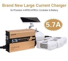 2017 4 em 1 mais rápido 5.7A Rápido Da Bateria Controlador Paralelo carregador para para DJI Fantasma 4/4 PRO/PRO + carregador Rápido Da Bateria UE/EUA